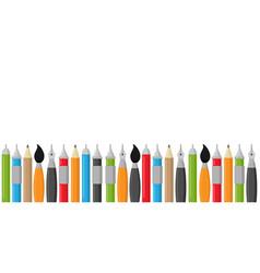 back to school pens border vector image
