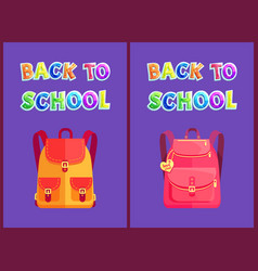 Back to school set of posters vector