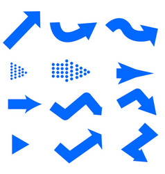 blue arrows icon on white background blue arrows vector image
