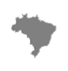 brazil map paper cut country isolated on a white vector image