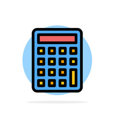 Calculator calculate education abstract circle vector