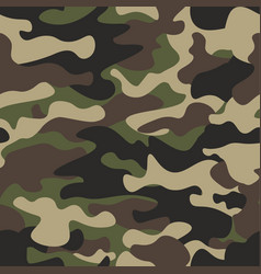 Camouflage seamless pattern background classic vector