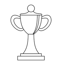 Championship cup icon outline style vector