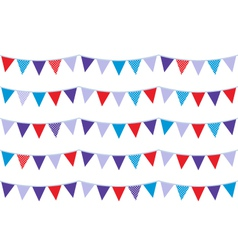 Christmas bunting vector