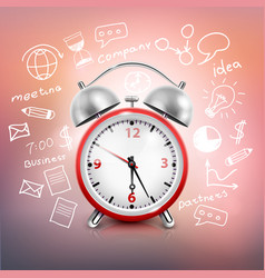 clock business strategy composition vector image