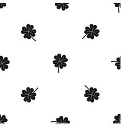 clover leaf pattern seamless black vector image
