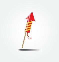 color fireworks rocket vector image