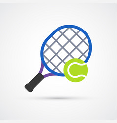 colored tennis trendy symbol vector image