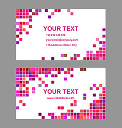 Colorful geometric business card template design vector