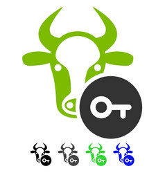 Cow key flat icon vector