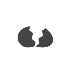 Cracked egg icon graphic design template vector