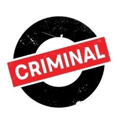 Criminal rubber stamp vector