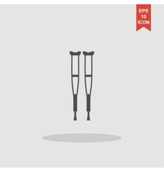Crutches icon Modern design flat style vector image