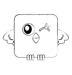 Cute bird expression comic vector