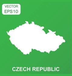 czech republic map icon business concept czech vector image
