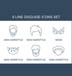 disguise icons vector image