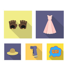 dress gloves leather scarf and other clothes vector image vector image