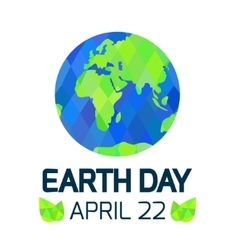 Earth Day card on white background vector image