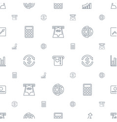 Economy icons pattern seamless white background vector