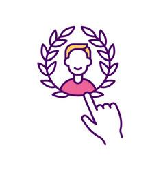 Example successful leader rgb color icon vector