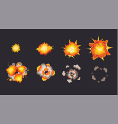 Explosion animation in storyboard energy vector