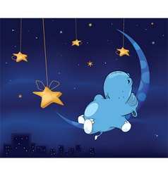 Fairy tale about hippo cartoon vector image