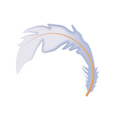 Feather softness decoration bohemian icon vector