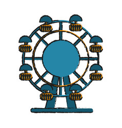 Ferris wheel fair or carnival icon image vector