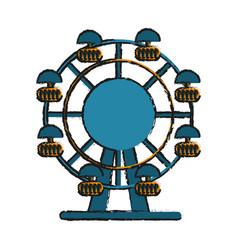 Ferris wheel fair or carnival icon image vector