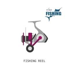 Fishing reel Item of fishing vector image