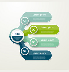 Four elements banner 4 steps design chart vector