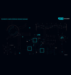 Futuristic user interface design element set 13 vector