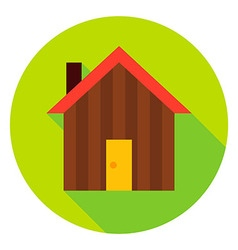 Garden House Circle Icon vector