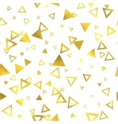 Geometric gold glittering foil seamless pattern vector