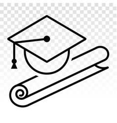 Graduation hat cap mortarboard flat icons vector