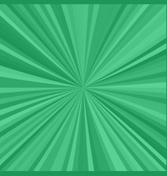 green explosion background from radial stripes vector image