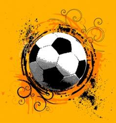 grunge soccer vector image