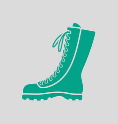 Hiking boot icon vector