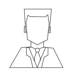 Hote recepcionist avatar profile black and white vector