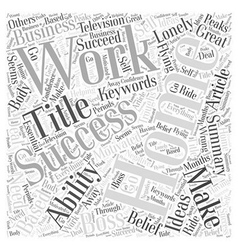 How To Make Working From Home A Success Word Cloud vector image