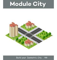 Isometric 3d landscape top view building vector
