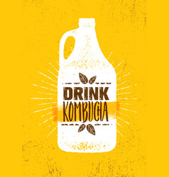 kombucha tea brewery natural healthy soft drink vector image