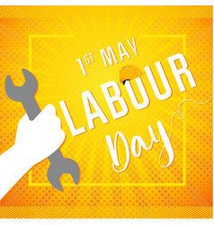 Labour day wrench in hand vector