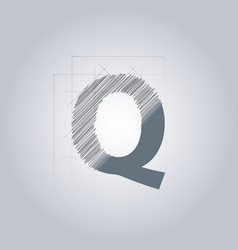 Letter q logo alphabet logotype architectural vector