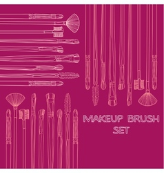 Makeup Brush Set vector image