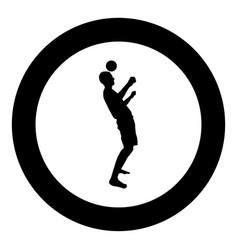 Man kicks the ball on head soccer player taps vector
