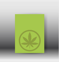 medical cannabis plant hemp poster vector image
