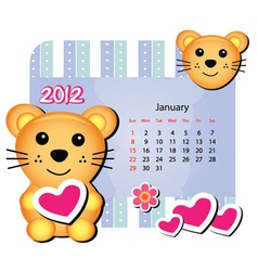 mice animal calendar vector image