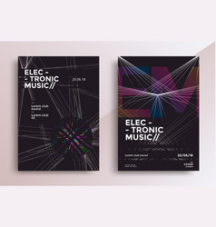 music geometric poster vector image