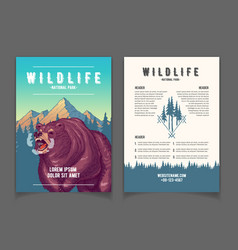 National park nature attractions booklet vector